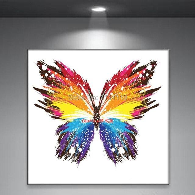 Quadri farfalla quadro dipinto a mano su tela foto arte moderna ...