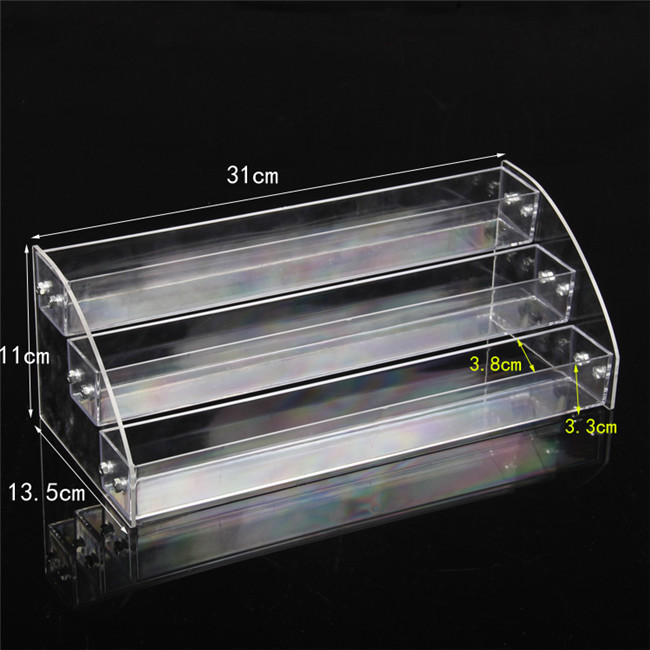 Wholesale 2Pcs Acrylic Clear View Assembled Cosmetics Nail Polish Lipstick Storage Orgonizer Display Stand Holder 3 Layers New in Jewelry Packaging Display from Jewelry Accessories