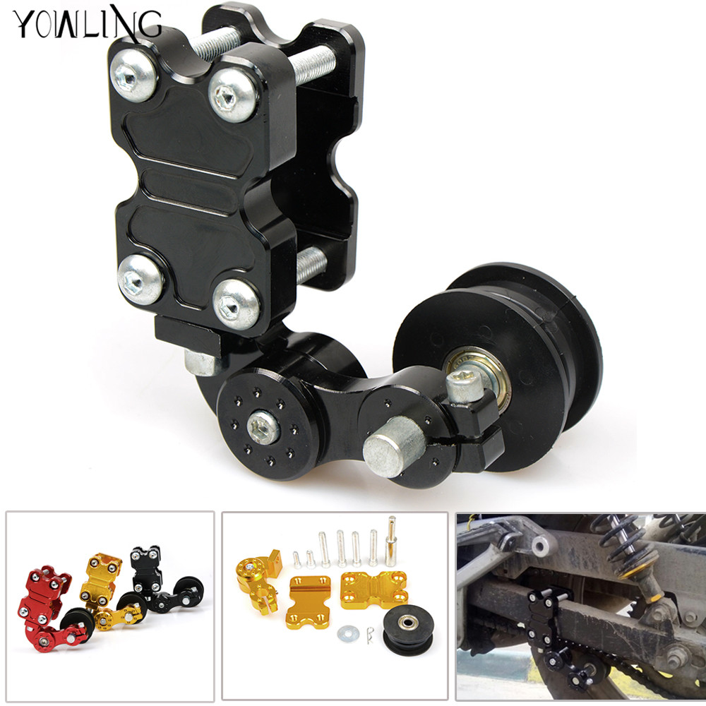 New Black Adjustable Aluminum Chain Tensioner Bolt on Roller Motorcycle Chopper ATV Dirt Bike Universal fit most motorcycle