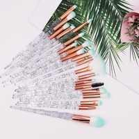 20Pcs Unicorn Makeup Brushes Set Crystal Eye shadow Foundation Powder Blush Lip Makup Brushes Cosmetic Colorful Make Up Tools