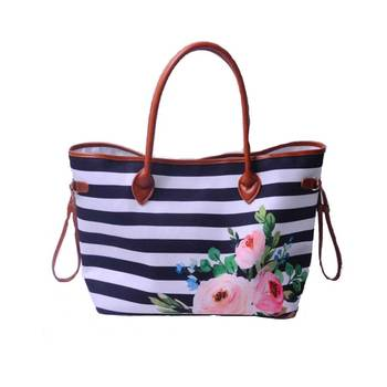 Schiffe in 24 Stunde Personalisieren Kaktus Gedruckt Frauen Handtasche 100% Leinwand Casual Große Handtaschen Mit Zwei Saiten Kann Bestickt werden