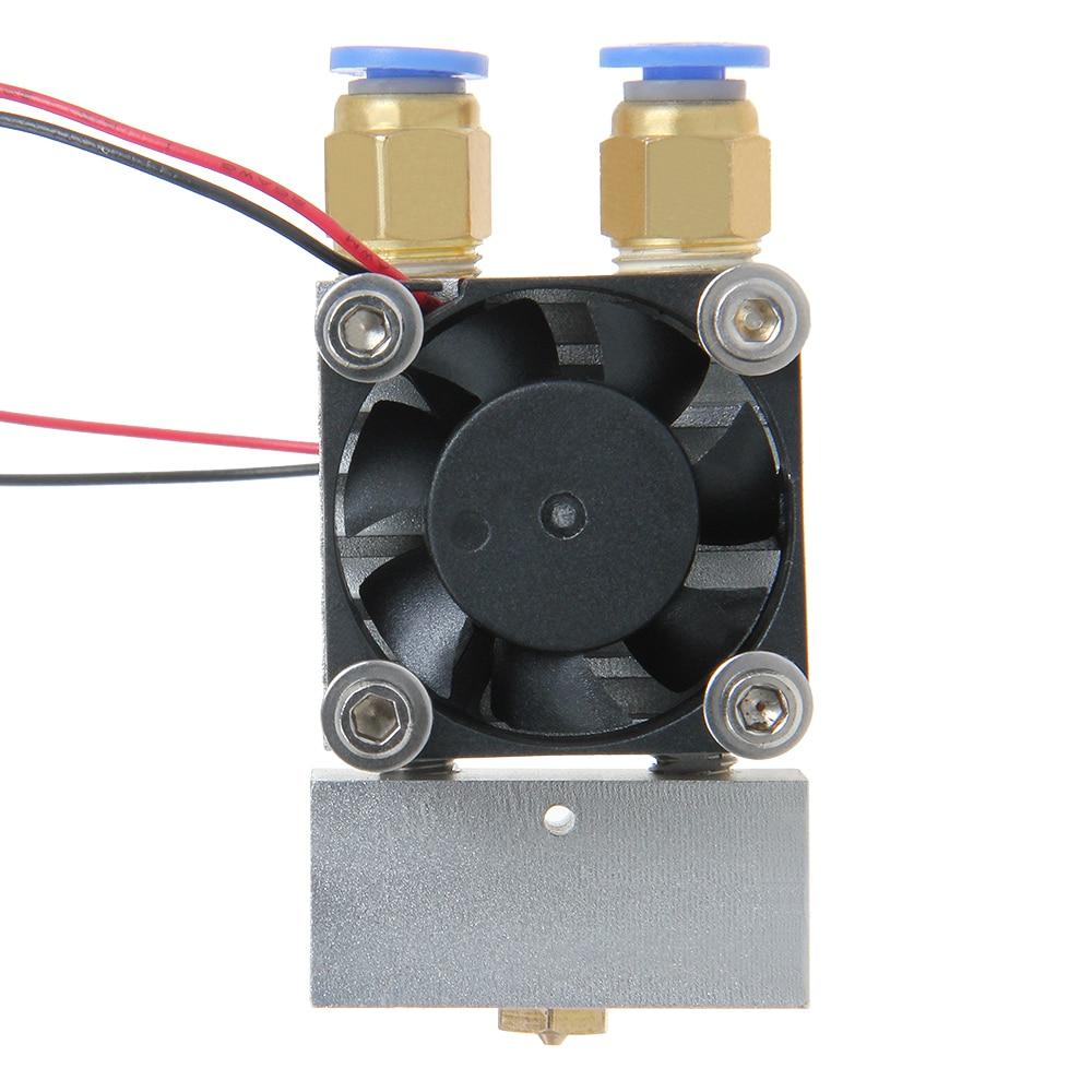 ФОТО MK8 Extruder Dual Head Dual Nozzles 0.3/0.35/0.4/0.5mm for Reprap 3D Printer 1.75/3MM Filament