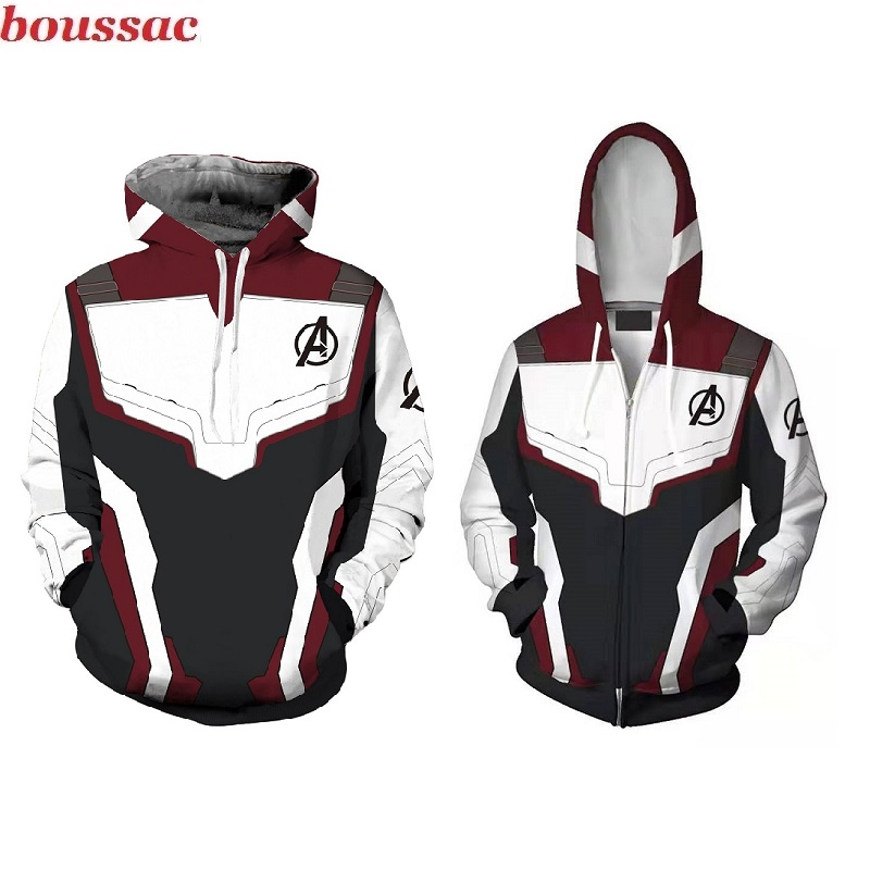 2019 new Avengers 4 Sweatshirt Jacket 3D Printed Sweater Endgame Quantum Realm Halloween Cosplay Costumes Superhero Hoodies Suit