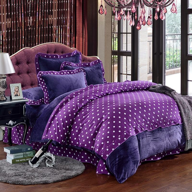 Housse De Couette Duvet Cover Purple Bed Sheets Polka Dot Comforter Sets Paisley Linen Luxury Bedding