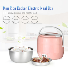 Mini Rice Cooker Multifunctioned Electric Heating Electric Lunch Box Portable Steamer Electric Heating Rice Cooker Egg Cooker
