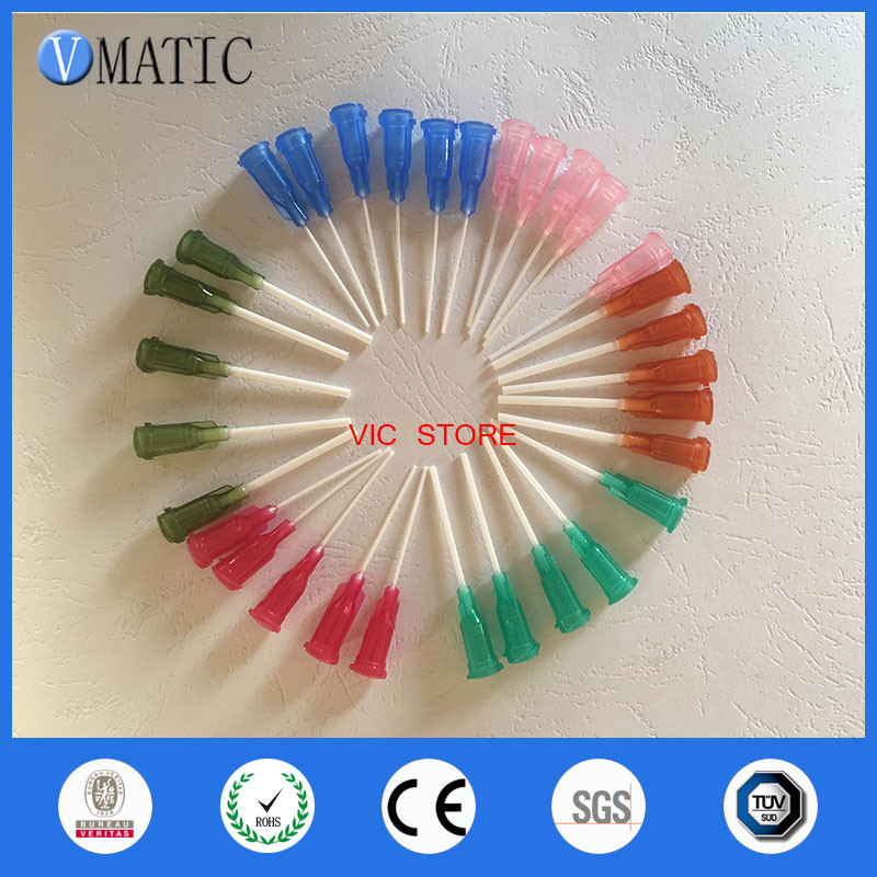 Free Shipping 14-25G Mix Pack 1'' Length Pp Flexible Dispensing Needle Tips, Each Size 100Pcs Totally 600Pcs