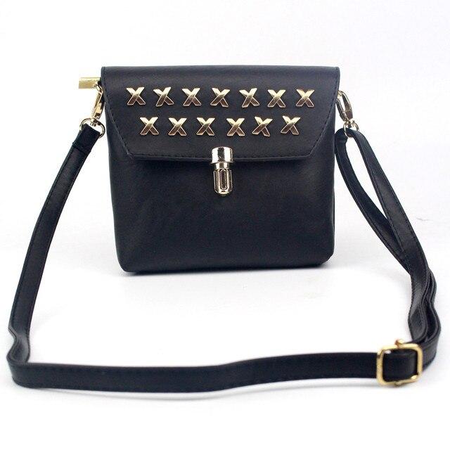 0c61dc630bb6 Women Bag Fashion Rivet Leather Handbag Crossbody Shoulder Bags Purse  Messenger Satchel Bags designer Travel bag for girl Female