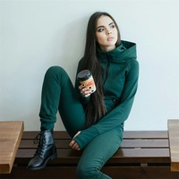 Winter Green Women Jumpsuits 2018 Long Sleeve Hooded Outfits Zipper Cotton Sexy Outwear Jogging Bandage Bodycon Fitness Jumpsuit