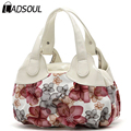 Ladsoul 2016 fashion print women handbag floral women messenger bags shoulder bags handbags for ladies casual women bag sh462/g