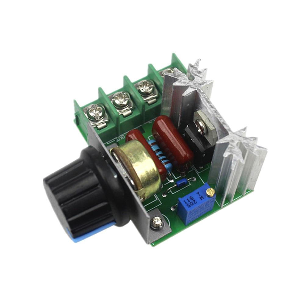 AC 220V 2000W Motor Speed Controller Voltage Regulator Dimming Dimmer Thermostat