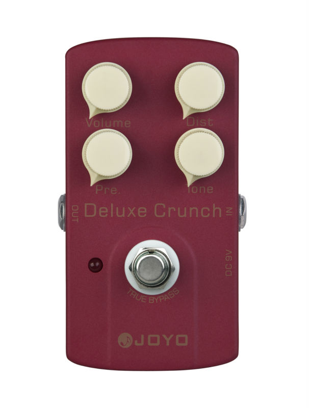 Joyo JF-39 Deluxe Crunch Distortion Electric Guitar Effect Pedal True Bypass joyo ironman orange juice amp simulator electric guitar effect pedal true bypass jf 310 with free 3m cable