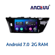 Ancluu 10.1 inch Android 7.0 Car DVD Player GPS For Toyota Corolla 2014 2015 2016 audio car radio stereo navigator bluetooth