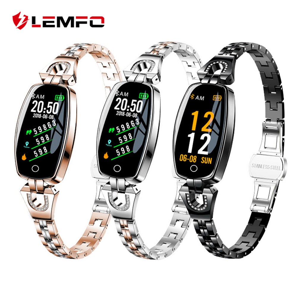 LEMFO H8 Smart Watch Women 2018 Waterproof Heart Rate Monitoring Bluetooth For Android IOS Fitness Bracelet Smartwatch g6 tactical smartwatch