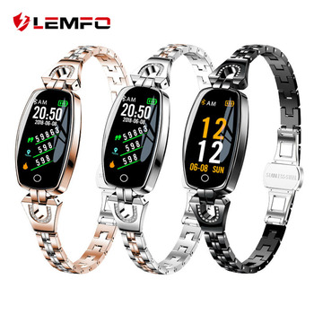 lemfo h8 waterproof bluetooth women's smart watch with heart rate monitoring for android ios
