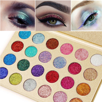 New Brand VERONNI Makeup Waterproof Glitter Palette Eyeshadow Cosmetics 24 Colors Shining Shimmer Pigments Eye Shadow