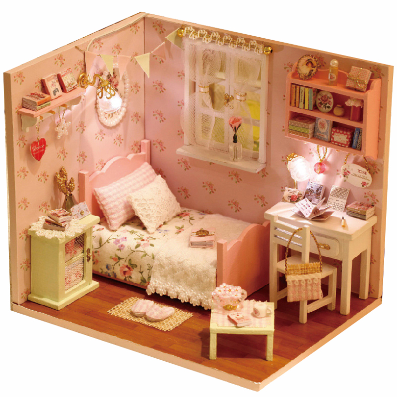 Kids Bedroom Furniture Kids Wooden Toys Online: DIY Wood Doll House For Dolls Made Of Wooden Miniature