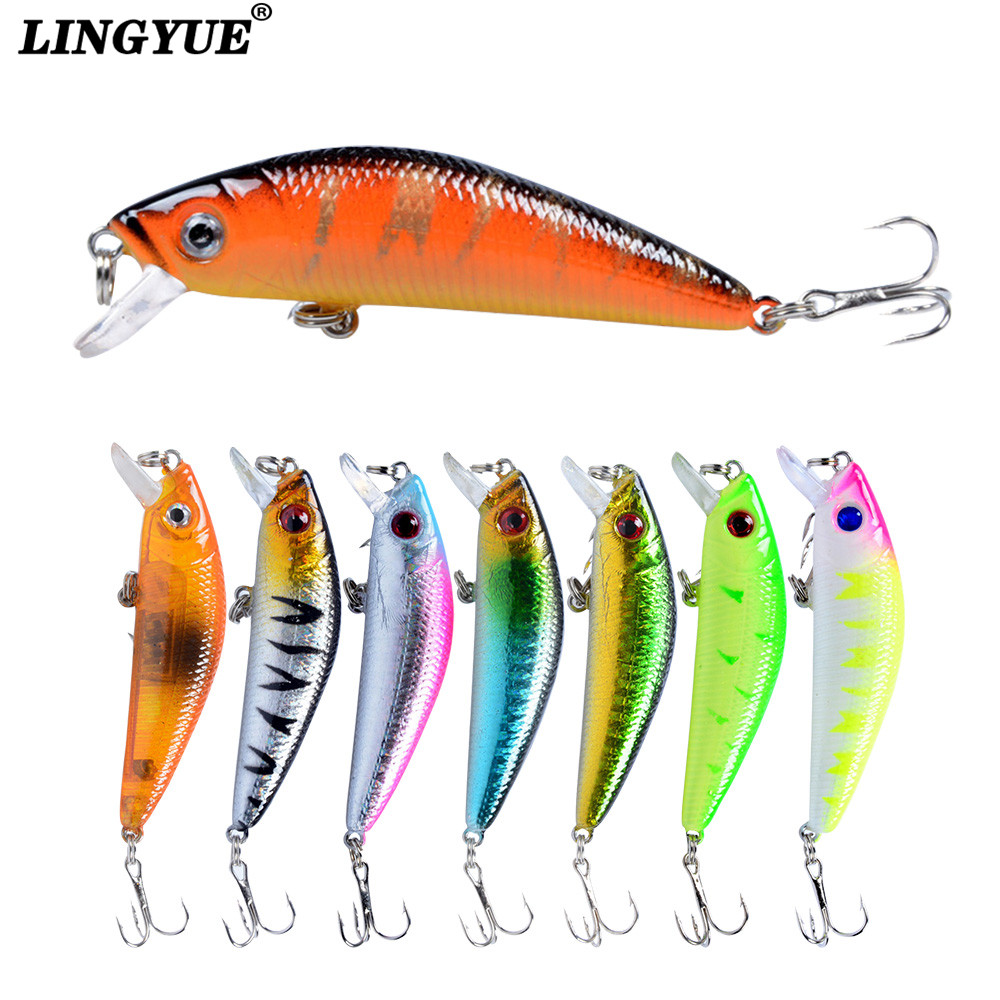 New 1pcs Fishing Lures Lifelike Minnow Lure 8 colors Bass Jerkbait Fishing Wobblers Tackle 7cm 7.6g Plastic Fishing bait pesca anmuka fishing lure minnow 12cm 24 5g 4 colors lifelike fishing lures hard bait treble hook fishing tackle lure fishing bait