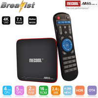 Mecool M8S Pro W Amologic S905W 4K android 7.1 tv box 2gb 16gb rom 2.4G wifi H.265 HEVC Youtube skype chatting set top box