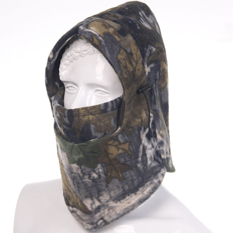 Thermal Fleece Balaclava Hat Hooded Neck Warmer Winter camouflag Face Mask for Men  Motorcycle Helmet Beanies Masked cap winter warm motorcycle wind stopper face mask neck helmet beanies cap for men women bicycle thermal fleece balaclava hat