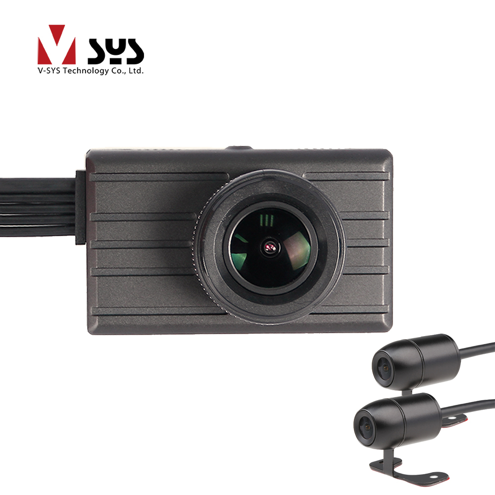 VSYS M12 3CH Multi Camera 2K 1296P DVR Dash Cam with HD Left Right Side View Blind Spot Waterproof Cameras Recorder GPS Support
