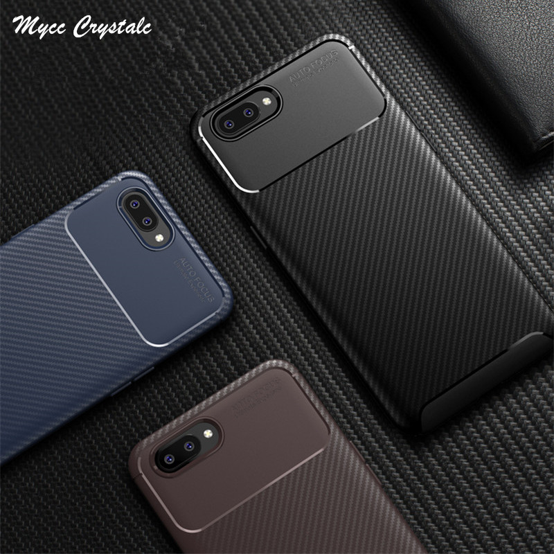 For OPPO AX5 Case High Quality Network Design Soft Carbon Fiber Case For OPPO AX7 RX17 Neo Reno 10x Zoom Cover Phone Bags Coque-in Fitted Cases from Cellphones & Telecommunications    1
