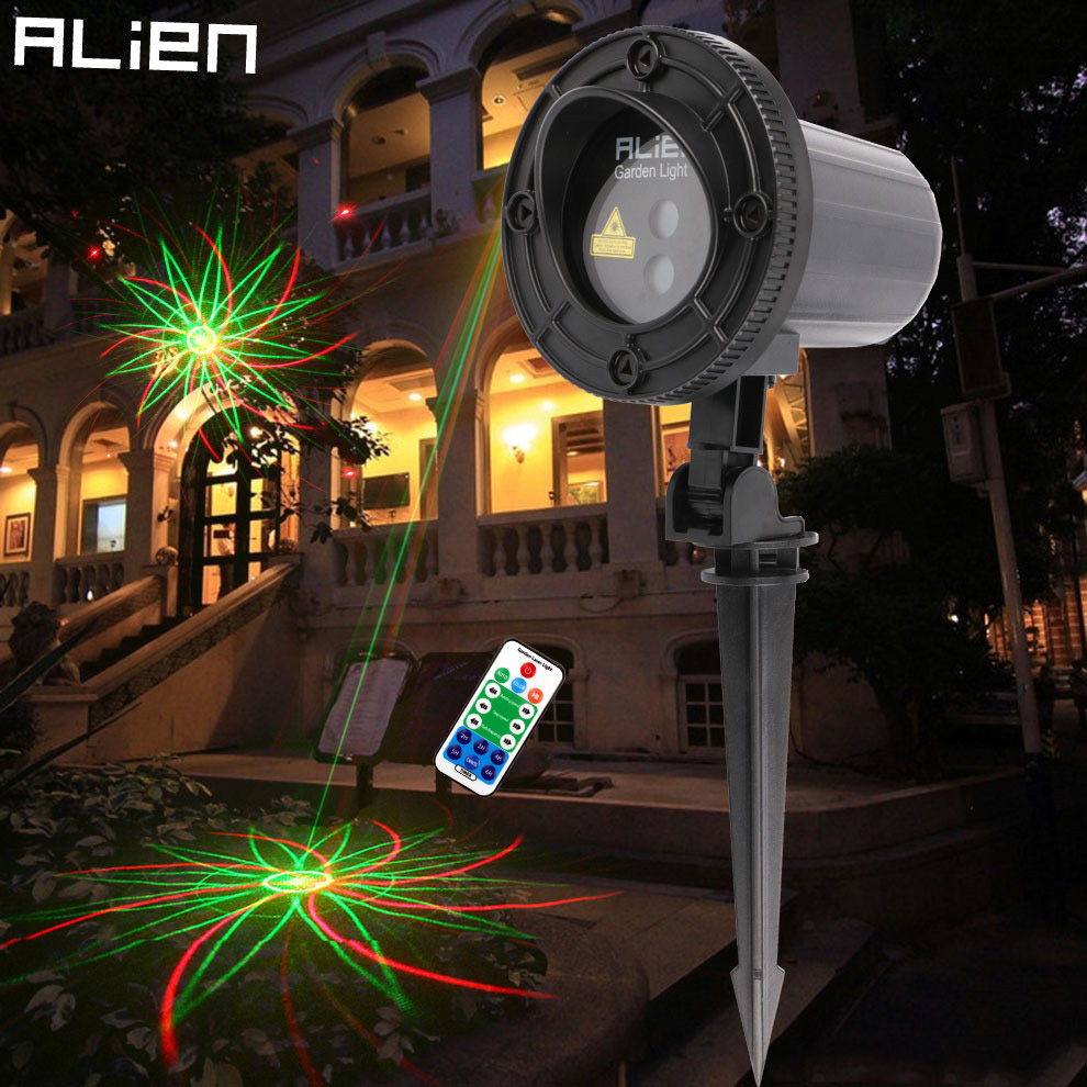 цены на ALIEN Red Green Remote Motion Static 8 Patterns Garden Waterproof Laser Light Projector Christmas Xmas Tree Holiday Show Lights в интернет-магазинах
