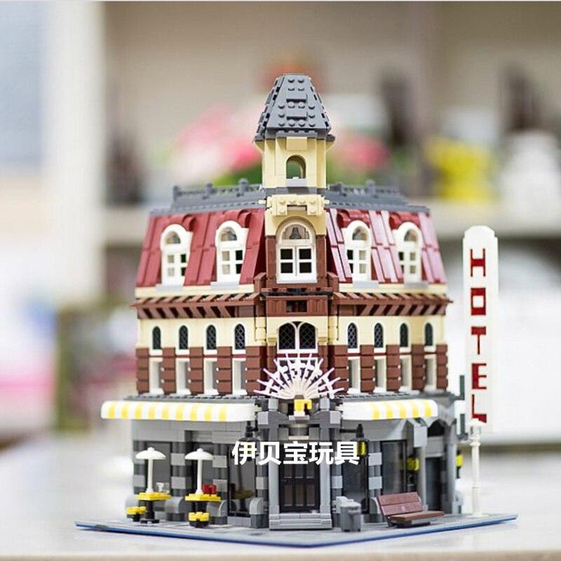 Лепин 15002 2133 шт. создатель эксперта сделать и создать кафе углу модель строительные блоки игрушки Кирпичи совместимы с 10182