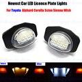 2 х LED Номерной знак Лампы Ошибки OBC Бесплатный 18 LED Для Toyota Corolla Auris Желание Alphard Sienna Scion XB XD