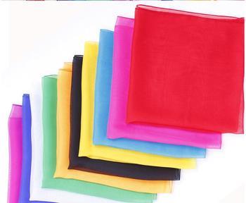 100pcs/lot wholesale Silk Scarf Magic Tricks scarves ultra-thin Trick toys silk magic prop Color Change Stage Props