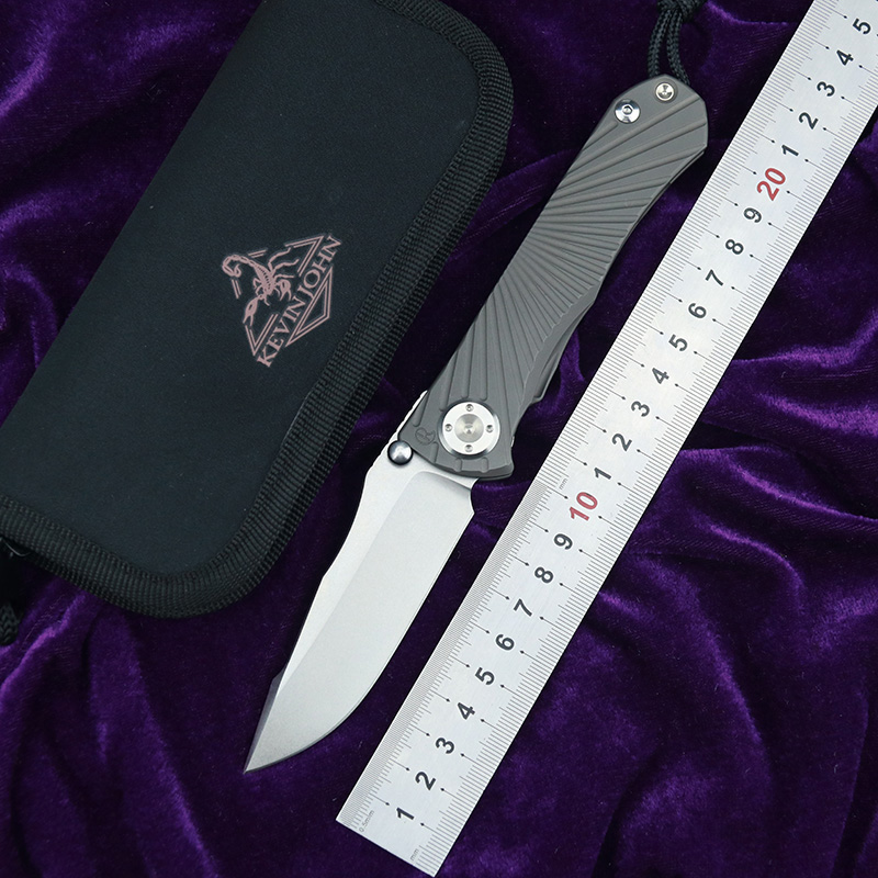 kevin john CR StarTac Umnumzaan  folding knife m390 blade titanium handle camping hunting survival pocket Kitchen fruit knives-in Knives from Tools    1