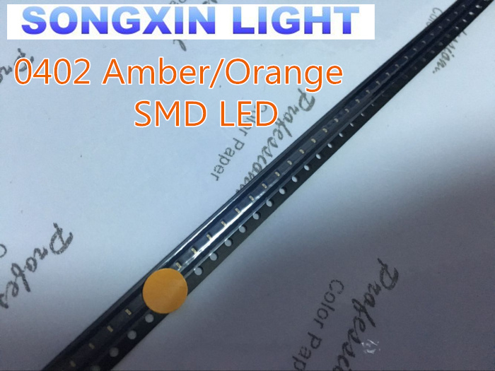 100 Pcs Smd Smt 0402 Ultra Bright Orange/amber Led Lamp Light To Win A High Admiration Diodes