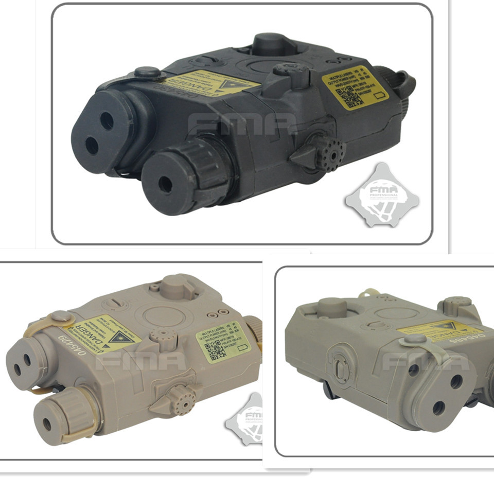 Цена за Тактический Взгляд Косплей Пустой Батареи Дело Box FMA Спецназа Вмс СОФ LA 5 Манекен AN/PEQ 15 DE/BLAC/FG