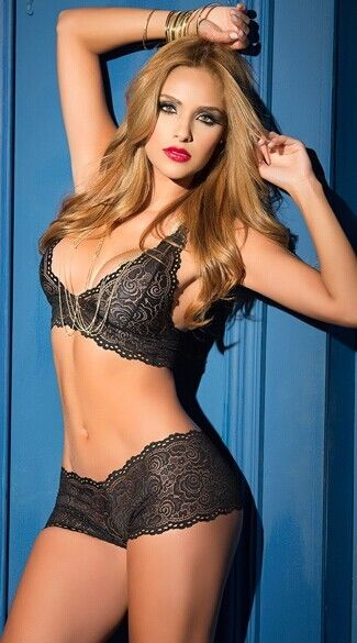 Lady Sexy Lingerie Suit Set Womens Underwear Nightwear Lace Push Up Padded Bra Panty