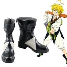 일곱 치명적인 죄: 계명의 부흥 Nanatsu No Taizai 시즌 2 분노의 용의 죄 Meliodas Cosplay Shoes Boots