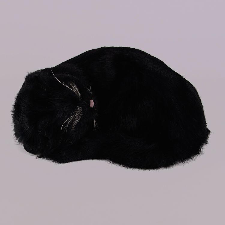 creative simulation black sleeping cat lifelike new cat model gift 25x20x11cm new simulation cat sleeping cat lifelike white cat model gift about 19x8x14cm
