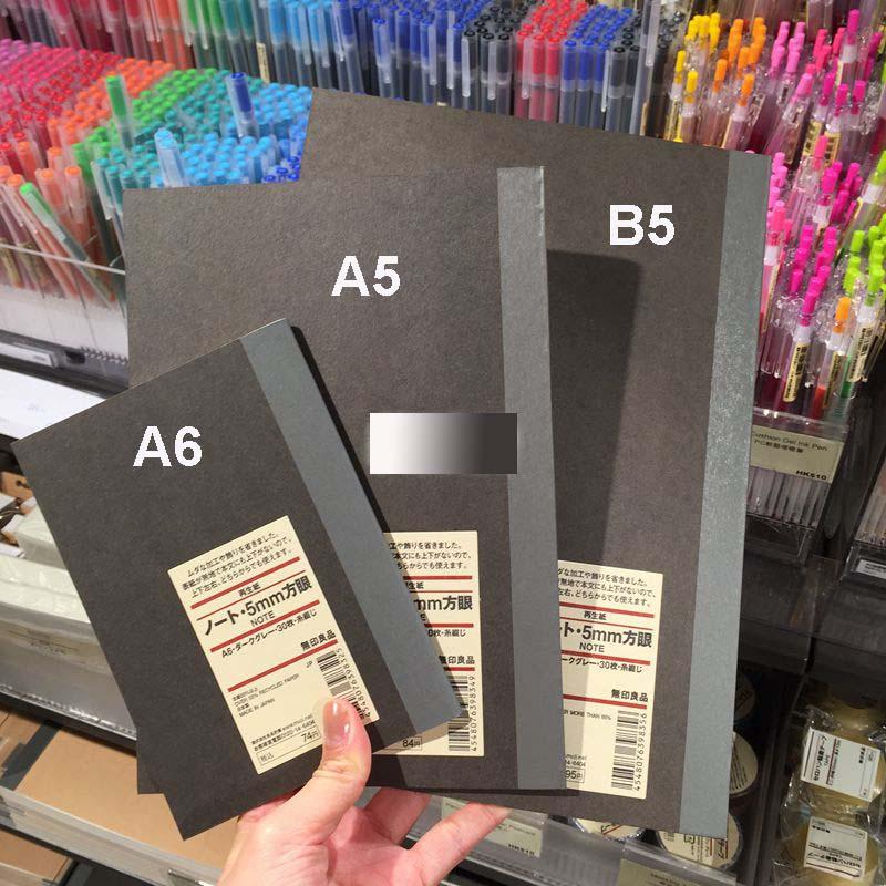 Aliexpress.com : Buy MUJI Graph Paper Notebook A6 A5 B5 30