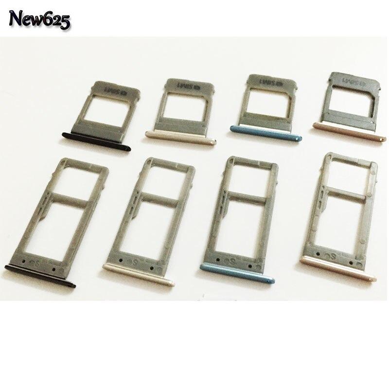 For Samsung Galaxy A5 (2017) A520 A7 A720 Single Sim & Dual Sim SIM Card Tray Sim Slot SD Card Holder Adapter Spare Parts makeup organizer box