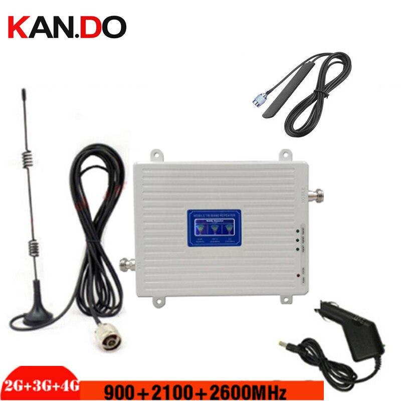 Repetidor de señal de 2G 3G 4G para coche gsm 2G 3g 4g 900 2100 2600 LTE 2G 3g 4g repetidor 2G 3g 4g BOOSTER para vehículo
