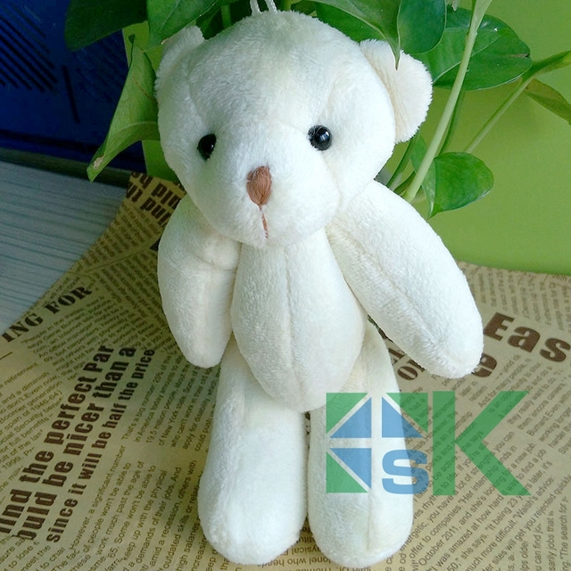 Free shipping 40pcs/lot 13cm Tinny bear use for bag,callphone,Promotional  items  teddy bear, small bears  For Gift-in Party DIY Decorations from Home