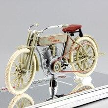 1:18 maisto crianças 1909 twin 5d V TWIN bicicleta antigo mini diecast modelo motocicleta coleção brinquedos do vintage para crianças