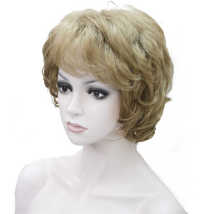 Image 5 - StrongBeauty Womens Wigs Black/Brown Natural Short Curly Hair Synthetic Full Wig 18 Color