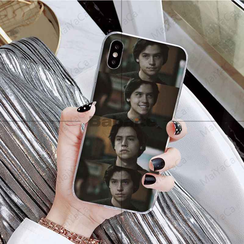 Babaite American TV Riverdale Series Cole Sprouse Soft Silicone Black Phone Case for iPhone 5 5Sx 6 7 7plus 8 8Plus X XS MAX XR