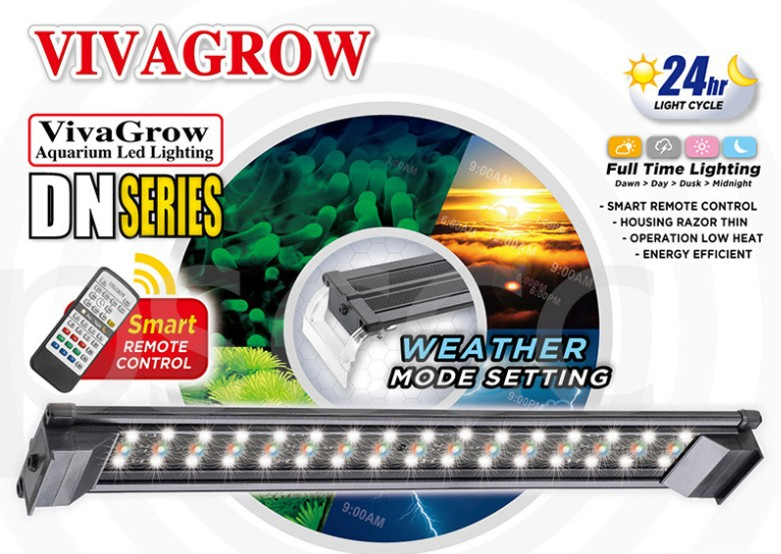 36 ODYSSEA VIVAGROW DN 90 DN 90 DayNight RGB LED Aquarium Lighting Freshwater Plants Grow Light