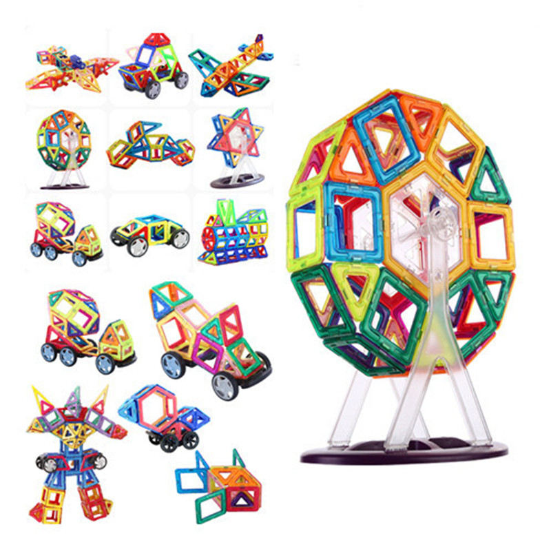 3D Magnetic Blocks Educational DIY Accessory Mini Sets Building Magnet Designer Constructor pulling Toys for kids Christmas Gift 175pcs magnetic building blocks educational diy mini kits magnet designer constructor accessory toys for kids christmas gifts