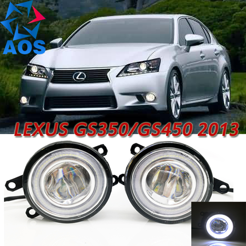For Lexus GS350 GS450h 2013 Car Styling LED Angel eyes DRL LED Fog lights Car Daytime Running Lights auto lamp with bulbs set for lexus rx gyl1 ggl15 agl10 450h awd 350 awd 2008 2013 car styling led fog lights high brightness fog lamps 1set
