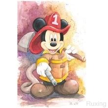 Ruxing Diy diamond painting cross stitch rhinestone handcraft mosaic cartoon Mickey Mouse animal embroidery Gift