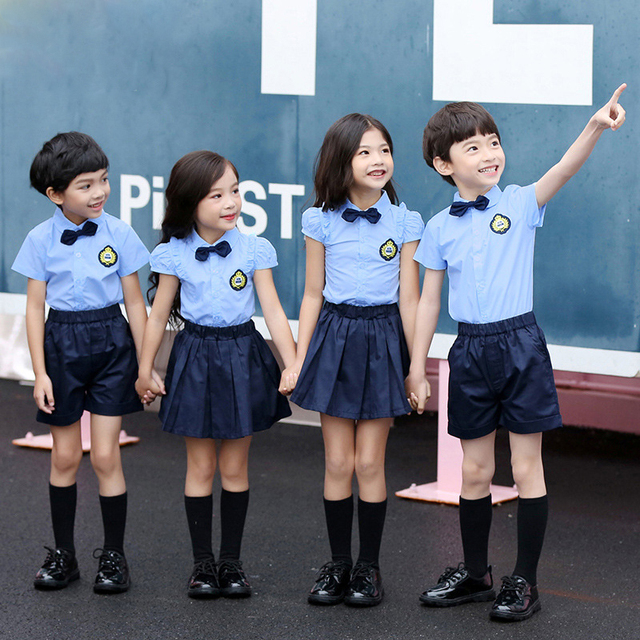 4e9c60437e4f Summer uniforms kids clothes summer school boys clothing girls school  uniforms
