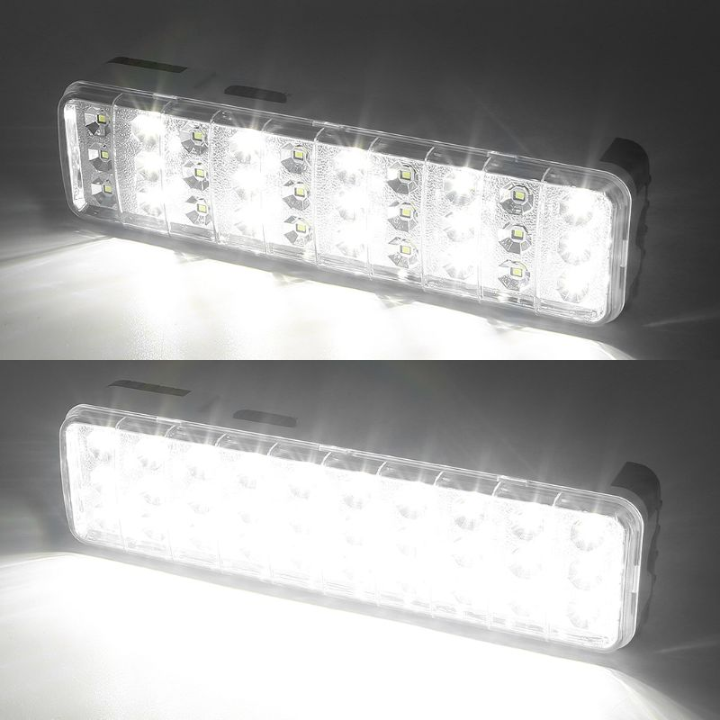 30LED Multi-function <font><b>Emergency</b></font> <font><b>Light</b></font> <font><b>Rechargeable</b></font> LED Safety Lamp 2 Mode For Home Camp Outdoor image