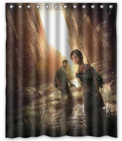 Custom Shower Curtain Game The Last Of Us Curtains Zombie Video Game Curtain  Bathroom Waterproof Christmas