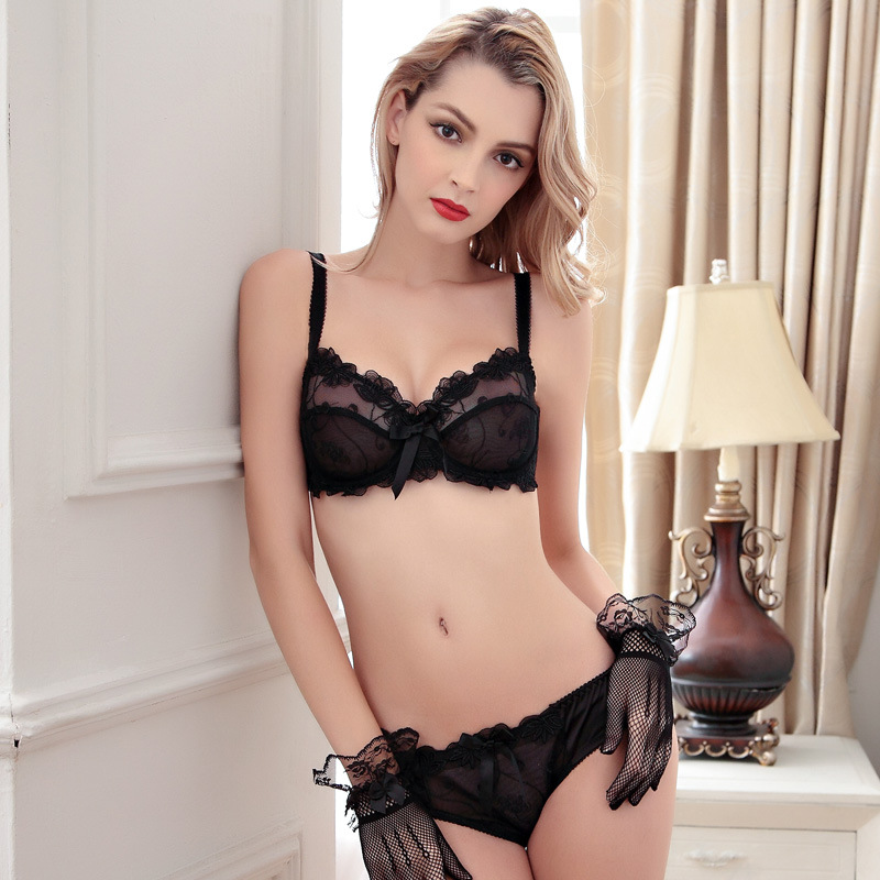 95a53e6fbf6c Aliexpress.com : Buy Women Bra Set 2019 Hot Sell High Quality Sexy Push Up  Bra Satin Luxury Lace Flower Charming Underwear Brief Lingerie Plus size  from ...